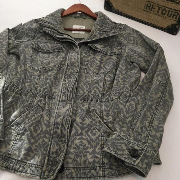 Abercrombie & Fitch Jackets & Blazers - Abercrombie & Fitch Tribal Print Utility Jacket